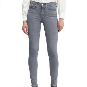 levis womens grey 311 shaping skinny jeans sz 27
